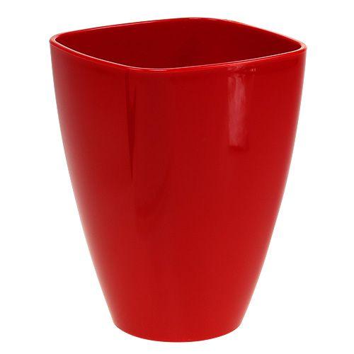 Pot d'orchidée brillant Ø12,5cm rouge, 1 pce