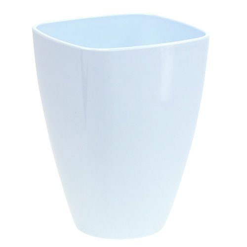 Pot d'orchidée brillant Ø12,5cm blanc, 1p
