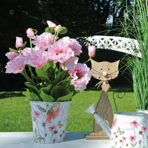 Pavot d'Orient, fleur artificielle, pavot en pot rose