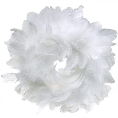 Décoration de Pâques guirlande de printemps blanche Ø18cm décoration de printemps