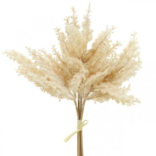Crème d'herbe de pampa artificielle Fleuriste sèche 35cm 4pcs