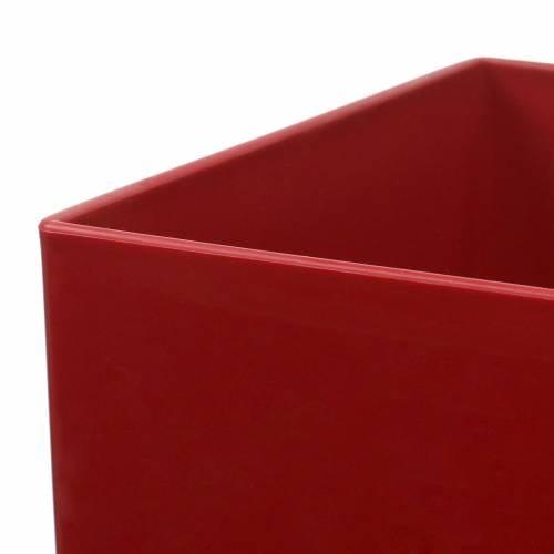 Vase rouge Milano Diamond 11 L. 20 cm