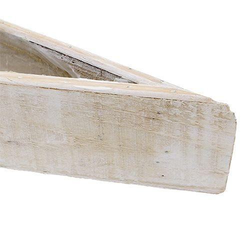Jardinière en bois blanche 79cm x 14cm x 7,5cm