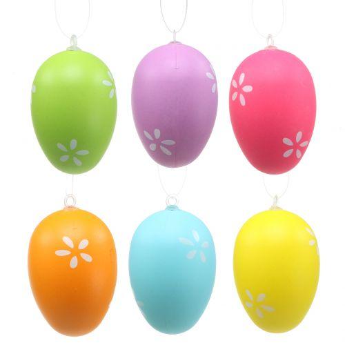 Œufs de Pâques colorés à suspendre 6 cm 12 p.