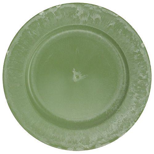 Assiette de présentation vert Ø 25 cm