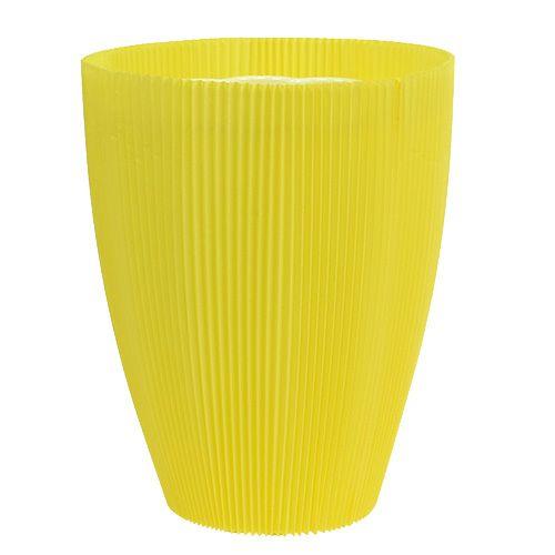 Cache-pots plissés jaunes 18,5 cm 100 p.