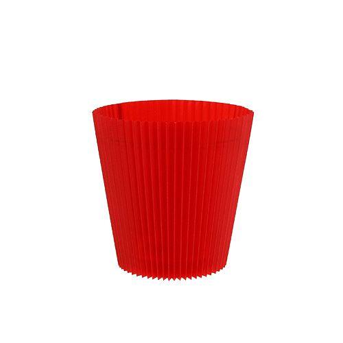 Poignets plissés rouge 8,5 cm 100pcs.