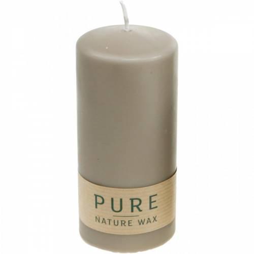 Bougie pilier pure marron 130/60 bougie cire naturelle durable stéarine et colza