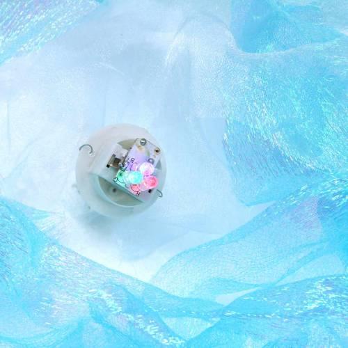 Méduse déco à suspendre bleu chatoyant avec lumière LED Ø26 H65cm