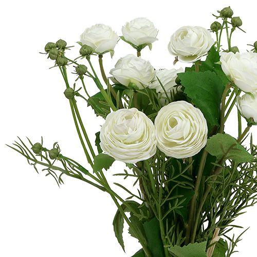 Bouquet de renoncule en blanc 42cm