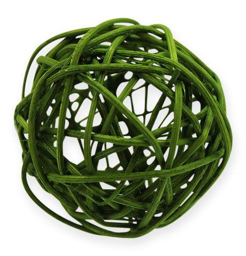 Balles en rotin dégradé de vert 5 cm 30 p.