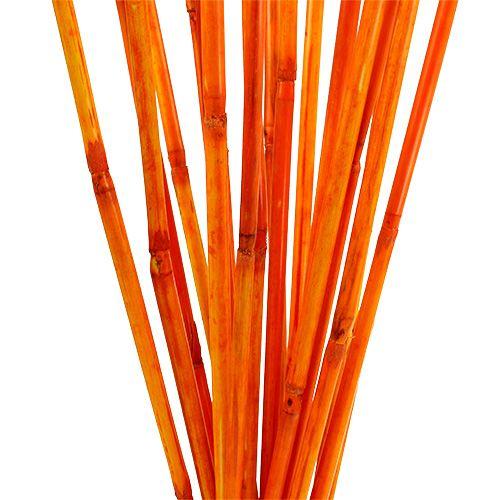 Tiges de rotin oranges 100 cm 20 p.