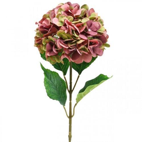 Hortensia artificiel rose, Bordeaux fleur artificielle grand 80cm