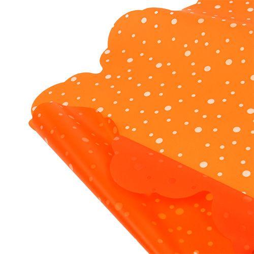 Manchette rosace orange Ø 48 cm 50 p.