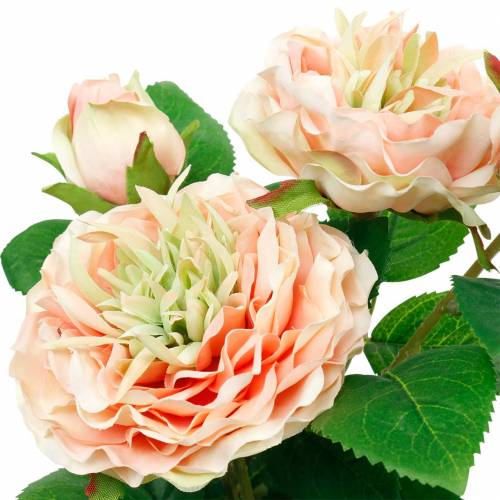 Rose décorative dans un pot, fleurs en soie romantiques, pivoine rose