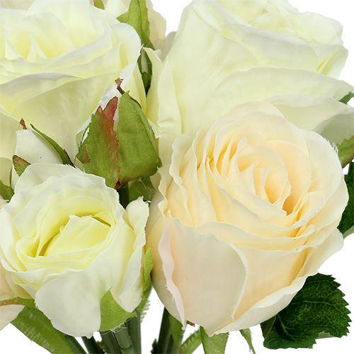Bouquet de roses crèmes 26cm