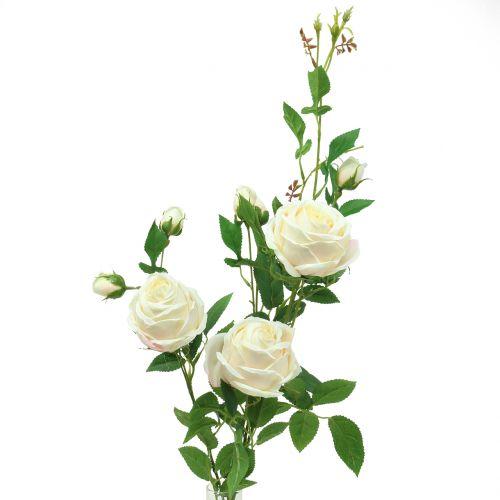 Branche de rosier crème/rose 100 cm