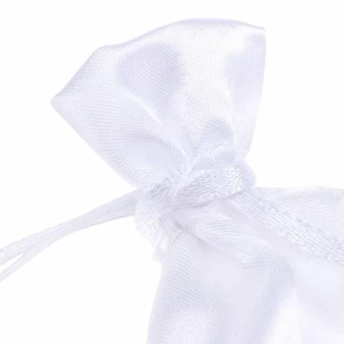 Sacs en satin blanc 6.5 × 10cm 10pcs