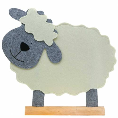 Mouton debout en feutre crème, gris 51 × 7cm H47cm