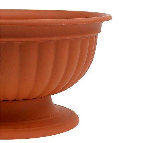 Pot plastique avec base en terre cuite Ø35cm