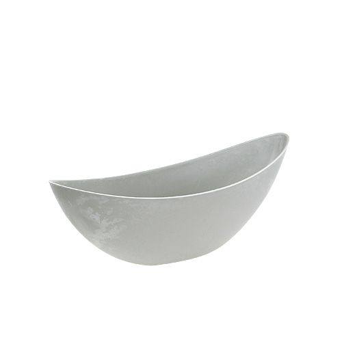 Bol ovale gris 39cm x 13cm H13cm, 1pc