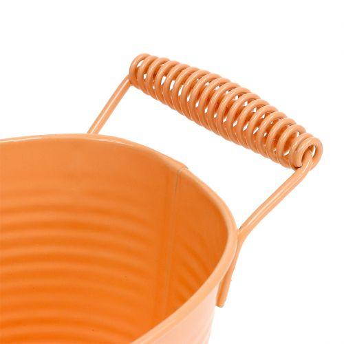 Bol ovale orange pastel 20cm x 12cm H9cm