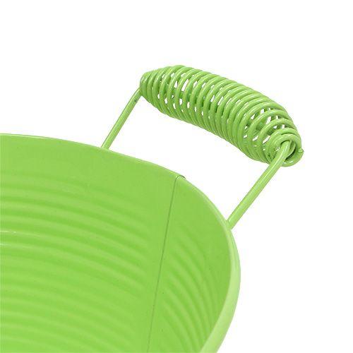 Bol rond vert clair Ø22cm H9.5cm