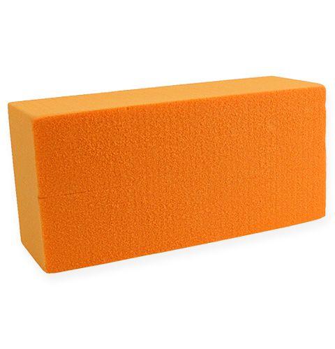 brique de mousse florale rainbow orange 4 pi ces boutique en ligne de fleuriste supply et. Black Bedroom Furniture Sets. Home Design Ideas