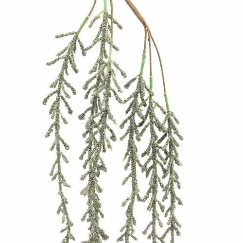 Vrille succulente suspendue verte, bronze métallique 114cm