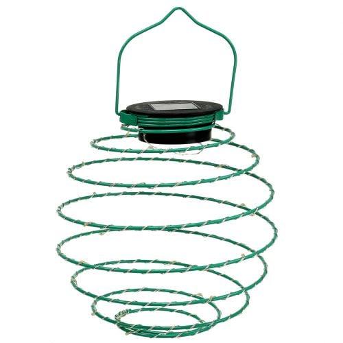 Lampe de jardin solaire verte 22 cm avec 25 LED blanc chaud