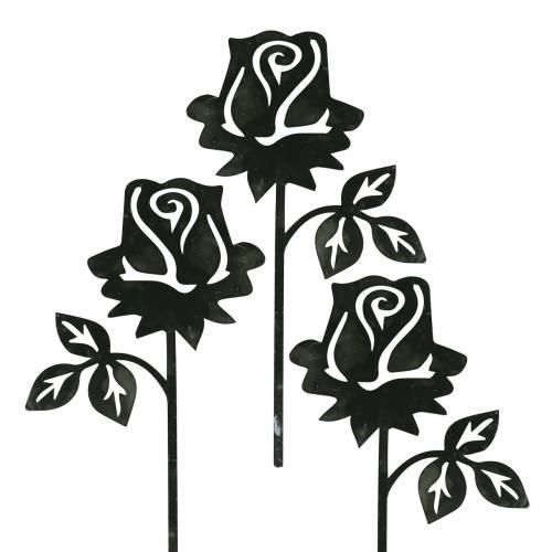 Bouchon en métal rose gris argenté, métal lavé blanc 20cm × 11,5cm 8pcs