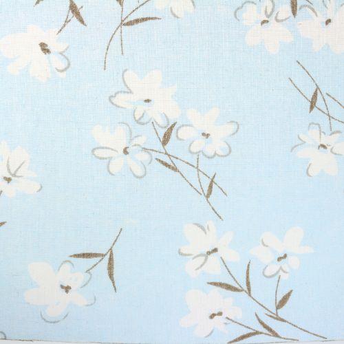 Tissu décoratif avec fleurs bleues 30 cm x 3 m