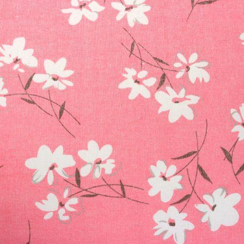 Tissu décoratif fleurs fuchsia 30 cm x 3 m