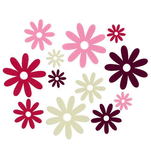 Mélange de fleurs de feutre Ø3cm - 7cm 72P
