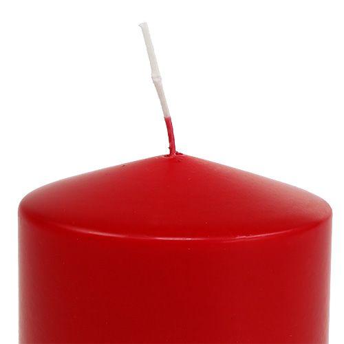 Bougie pilier 100/100 rouge 4pcs