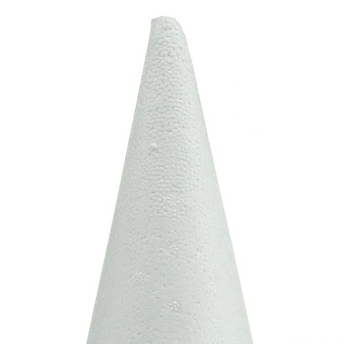 Cône en polystyrène blanc 14 x 7 cm 10 p.
