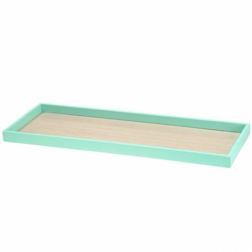 Plateau en bois vert 49cm x 16.5cm