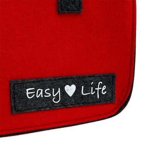 "Sac ""Easy Life"" 39 x 22 x 25,5 cm rouge-gris"
