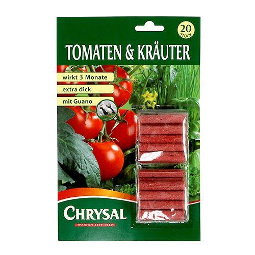 Bâtonnets d'engrais pour tomates et herbes (20 pièces)