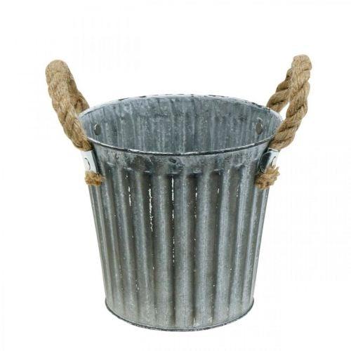 Cache-pot en métal, pot décoratif avec anses, cache-pot, cache-pot Ø16,5cm