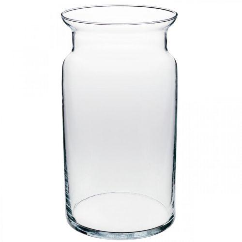 Vase en verre, vase décoratif, verre à bougie Ø15.5cm H28cm
