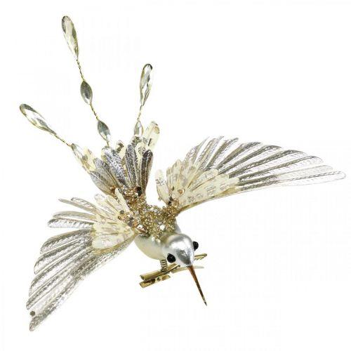 Colibri, décorations d'arbre de Noël, oiseau décoratif, décorations de Noël L20cm W20cm