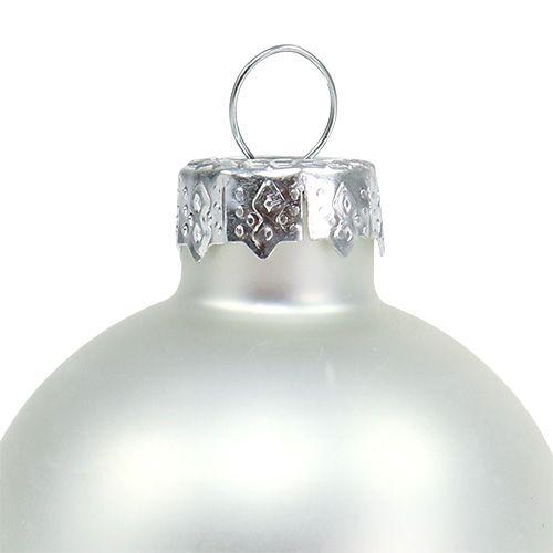 Boules de Noël Ø 4 cm argent brillant/mat 24 p.
