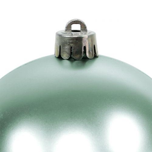 Boule de Noël incassable vert clair assorties Ø10cm 4pcs