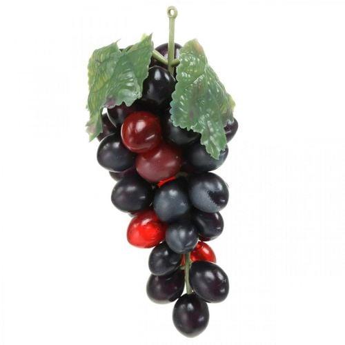 Raisin déco noir Fruit déco Raisins artificiels 15cm