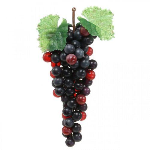Déco raisin noir fruit artificiel décoration vitrine 22cm
