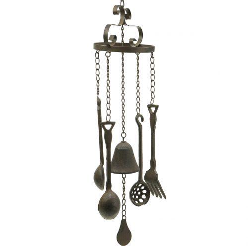 Carillon à vent à suspendre avec ustensiles de cuisine 75 cm