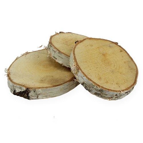 Tranches de bouleau rondes naturelles 10pcs