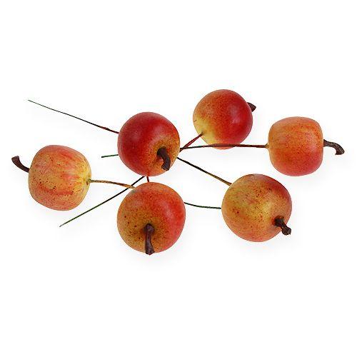 Pomme artificielle 3cm sur fil 24pcs