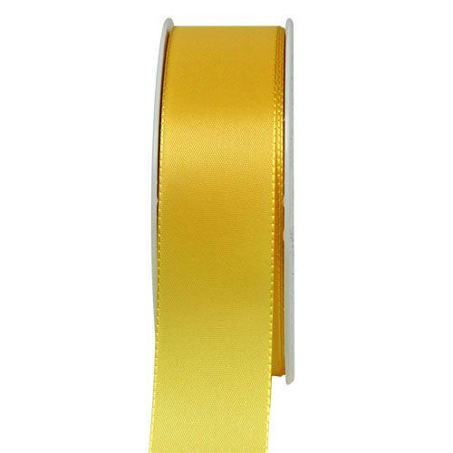 Ruban cadeau et décoration 50 m jaune